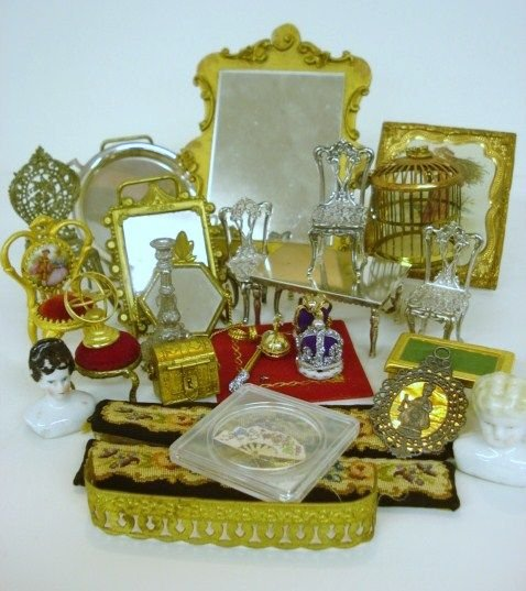 150A: Sterling and Gold Gilded Furniture