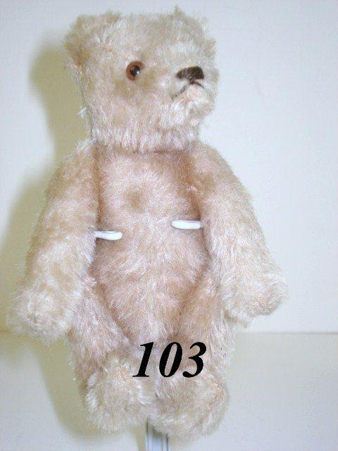 1103: White Steiff Teddy Bear