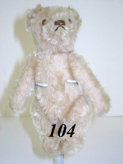 1104: White Steiff Teddy Bear