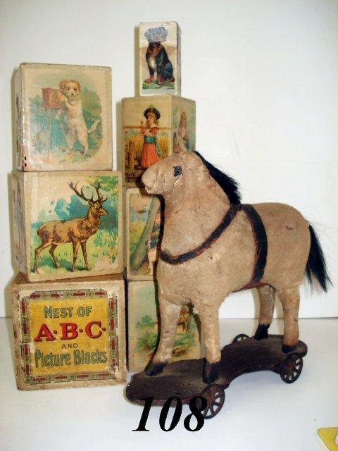 1108: Nest ABC Litho Picture Blocks