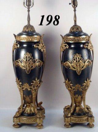 1198: Bronze & Metal Lamps