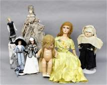 Group of Vintage Composition Dolls & Others
