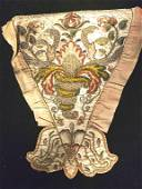 Early  likely 18h  Century Embroidery Stomacher
