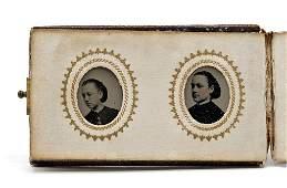 Ten Antique Miniature Tintype Portraits