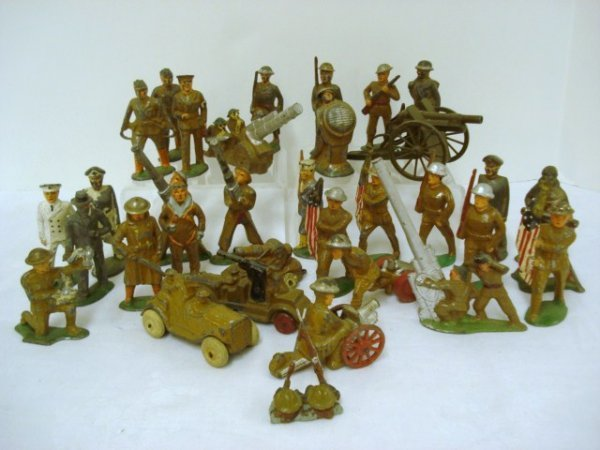 6021: Cast Iron Play Soldiers Barclay and others