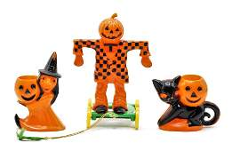 Three Vintage Halloween Candy Containers