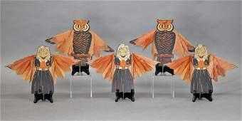 Five Vintage Halloween DieCuts