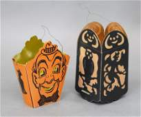 Two Halloween Lanterns  Candy Containers