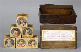 Antique Victorian Toy Face Blocks