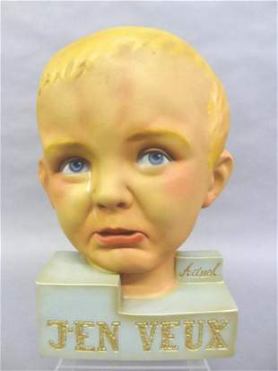 Vintage French Crying Child Store Display