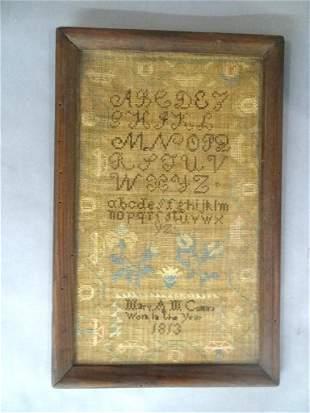 1813 School Girl Sampler