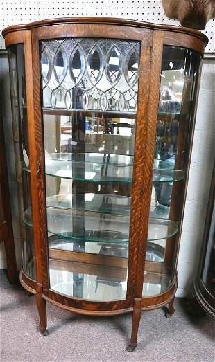 Antique Oak China Cabinet
