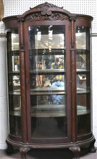 Victorian Bow Front China Cabinet