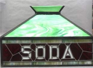 Ice Cream Parlor Stained Glass Light