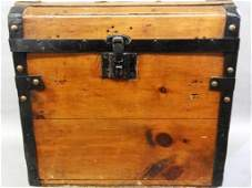 Antique Lady's Small Traveling Trunk