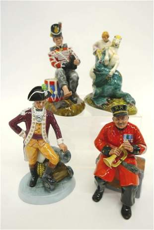 Four Large Royal Doulton Figurines