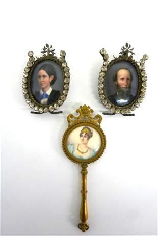 Three Antique Miniature Portraits