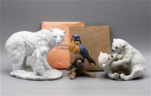 Kaiser Porcelain Bears & Bird Figurines