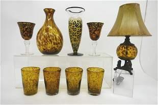 Kosta Boda Leopard Vase & Others