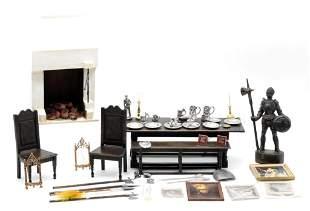 Norman Jones Tudor Dollhouse Furniture & Accessories