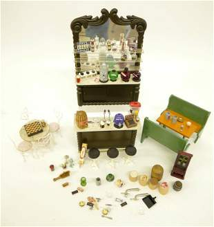 Dollhouse Ice Cream Shop Fixtures & Accessories