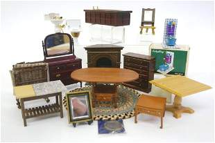 Assorted Dollhouse Furniture & Fixtures