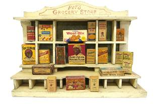 Antique Toy Grocery Store Toy Dollhouse