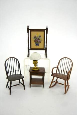 William Clinger Dollhouse Chairs & Others