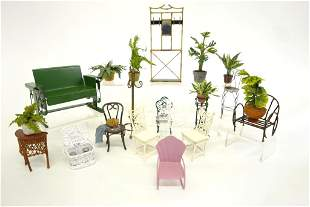 Dollhouse Metal Furniture & Plants