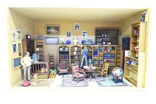 Book Store Dollhouse Room Box
