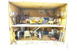 "1/2"" Scale Furnished  Artist Dollhouse"