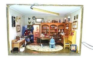 Antique Shop Artist, Steely & Burkey Dollhouse Room Box
