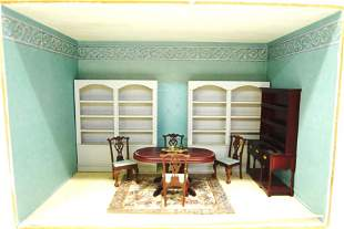 Small Furnished Dining Room Box Dollhouse