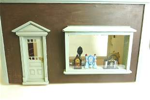 Furnished Clock Shop Dollhouse Room Box
