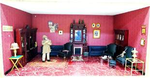 Sherlock Holmes Living Room Krupick,  Box Dollhouse