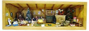 Furnished Attic Room Box Dollhouse
