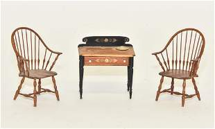 Pair of William Clinger Windsor Miniature Chairs