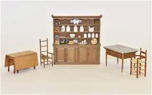 Assorted Artists Kitchen Furniture Miniatures
