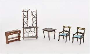 Jaris Table & Chairs Dollhouse Miniatures