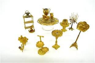 Antique Dollhouse Ormolu Accessories