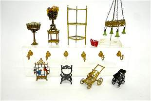 Antique Dollhouse Soft Metal Accessories Miniatures