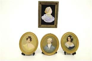 Margaret Nine Hand Colored Prints Miniatures
