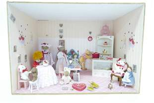 Whimsical Hearts Dollhouse Room Box