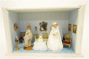 Mouse Wedding Room Box Dollhouse