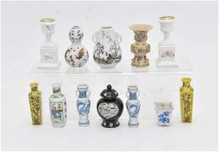 Dollhouse Porcelain Planter & Jars Miniatures