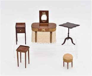 Assorted Artisan Small Dollhouse Furniture