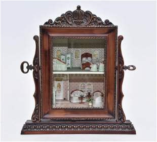 "Karen Gibbs 1/4"" Scale Artisan Room Box Dollhouse"