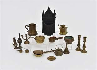 Antique & Vintage Dollhouse Metal Accessories