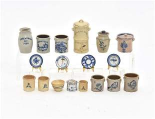 Assorted Artists Dollhouse Stoneware Miniatures