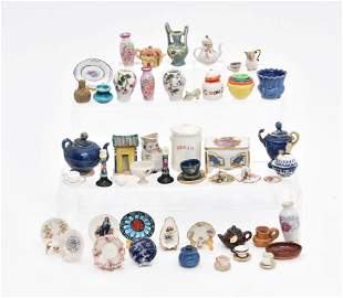 Large Assortment of Dollhouse Porcelain & China